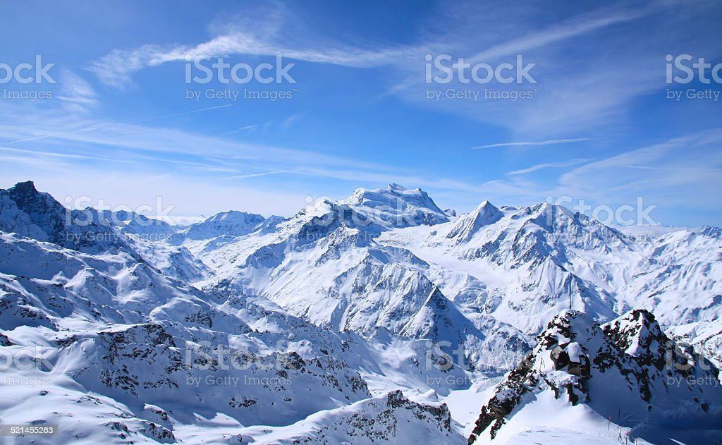 Alps of Verbier stock photo