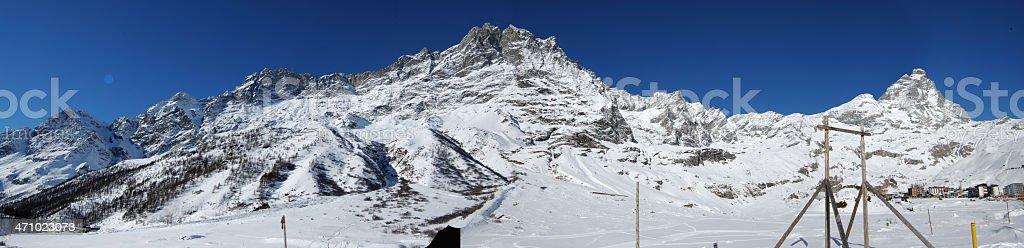 Alps' peaks royalty-free stock photo