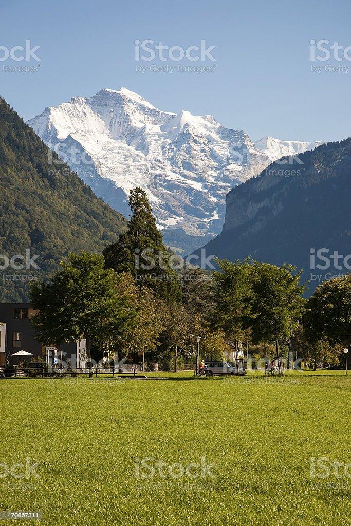 Alps seen from Interlaken, Switzerland royalty-free stock photo