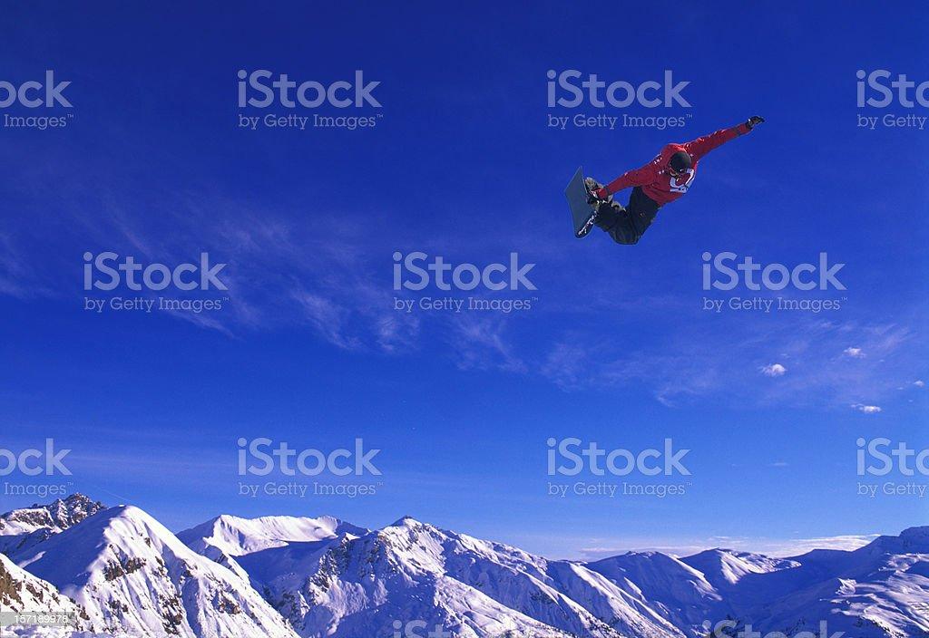 Alps snowboard stock photo