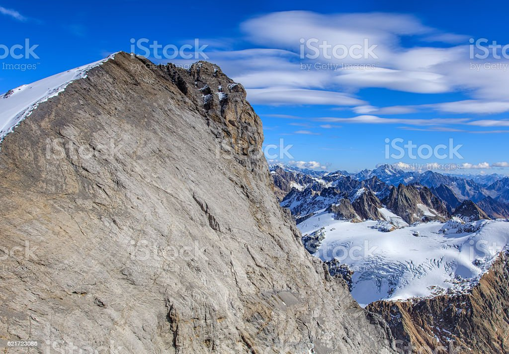 Alps, view from Mt. Titlis in Switzerland stock photo