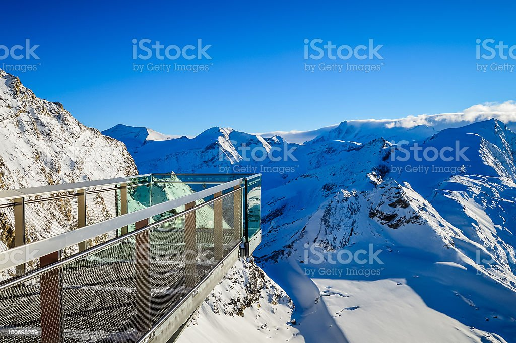 Alps view over the mountains royalty-free stock photo