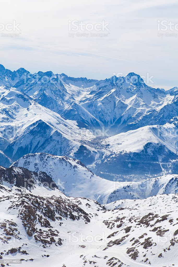 Alps views in winter stock photo