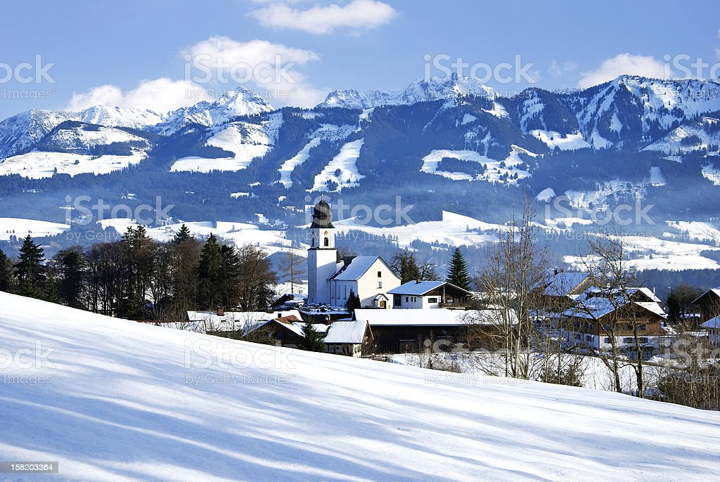 alps village germany royalty-free stock photo