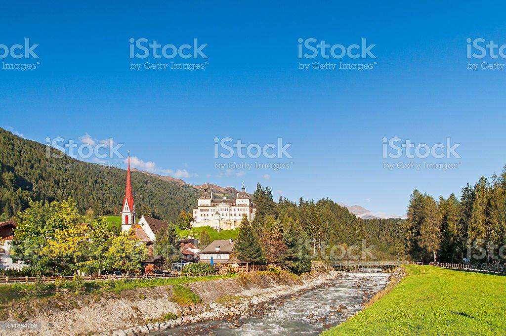 Alps villlage stock photo