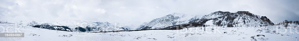 Alps, Winter, Panoramic royalty-free stock photo