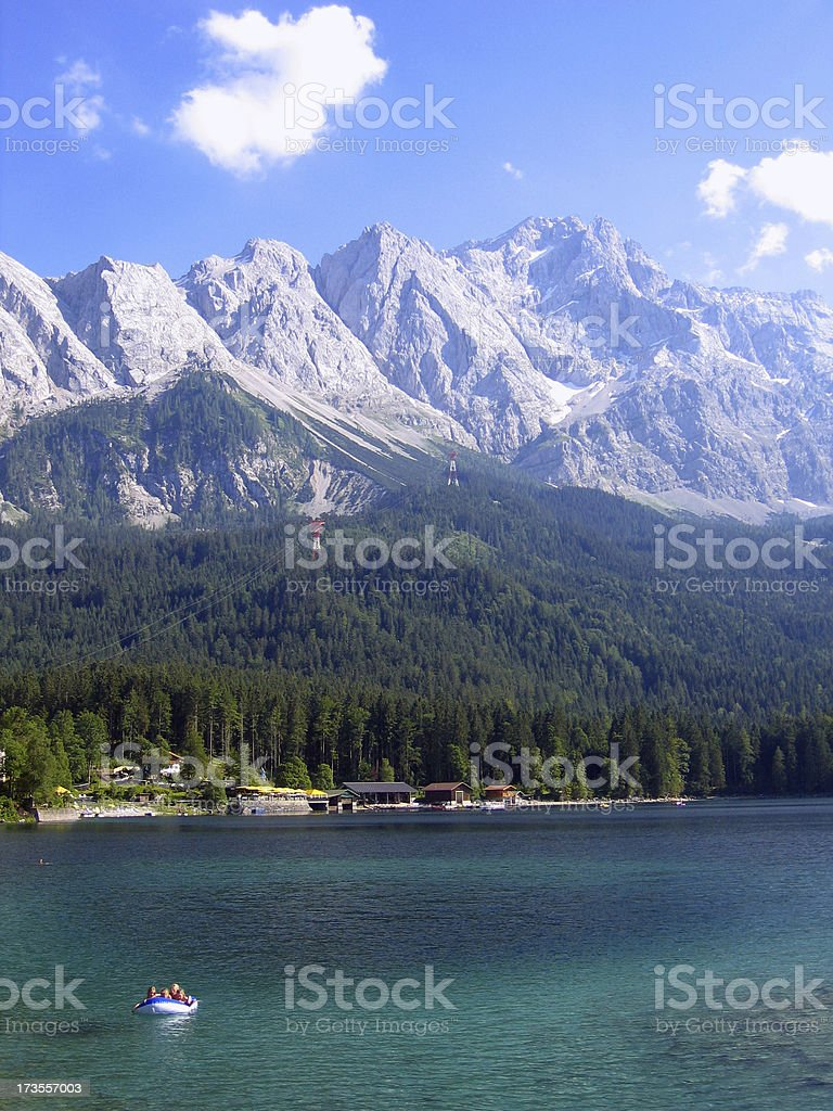 Alps with Zugspitze - Germany's highest mountain royalty-free stock photo