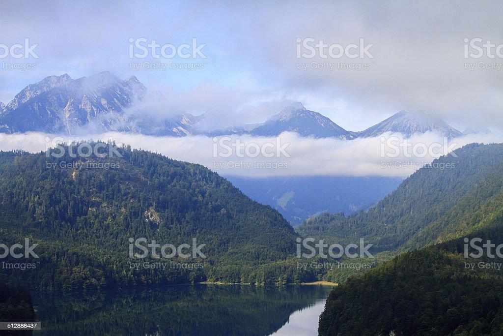 Alpsee near Hohenschwangau stock photo