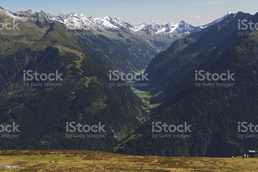 Alps-Panorama in Tirol stock photo