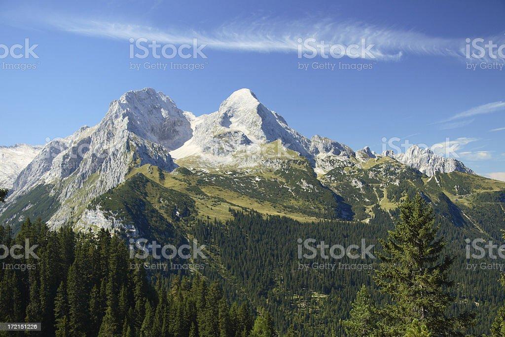Alpspitze 2 stock photo