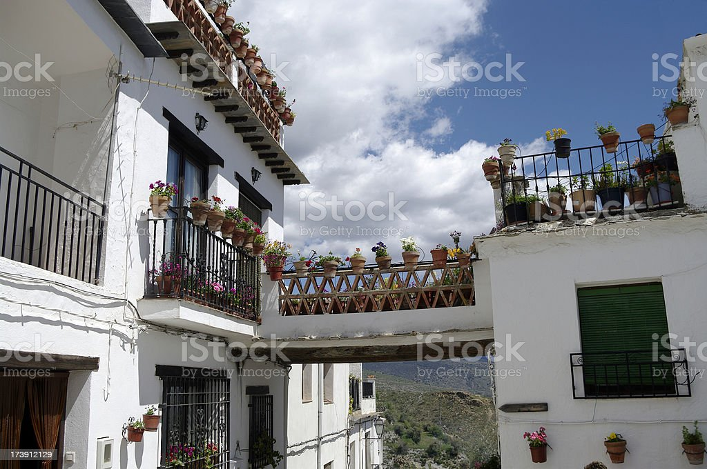 Alpujarra village housing, Yegen Andalusia Spain stock photo stock photo