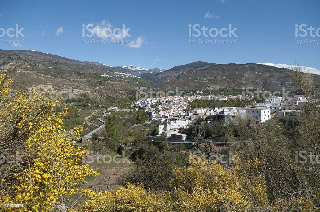 Alpujarras village of Cadiar in Spring Spain stock photo