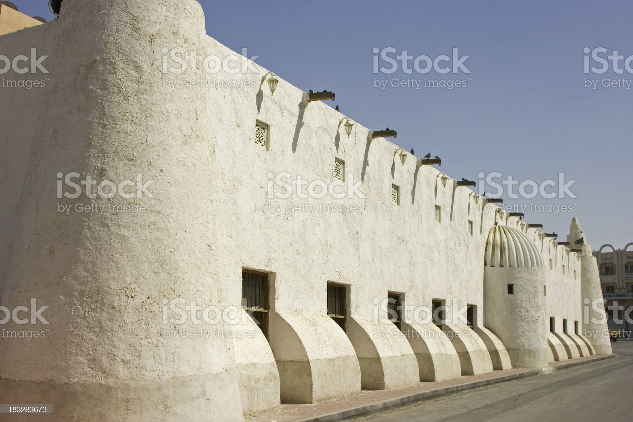 Al-Qubib Mosque in Doha Qatar royalty-free stock photo