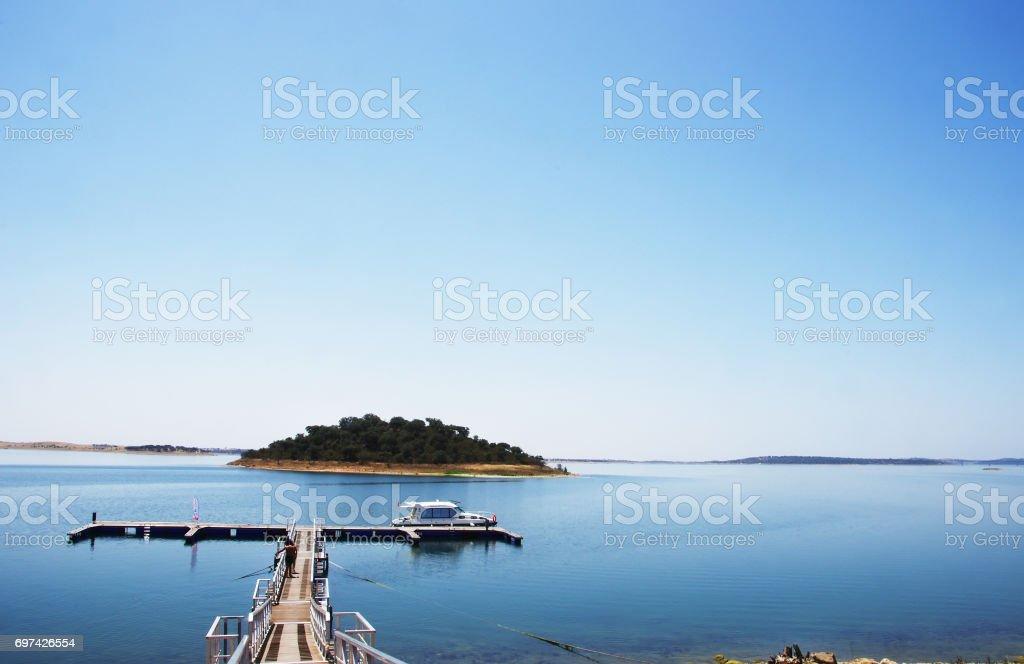 Alqueva lake, Alentejo, Portugal stock photo