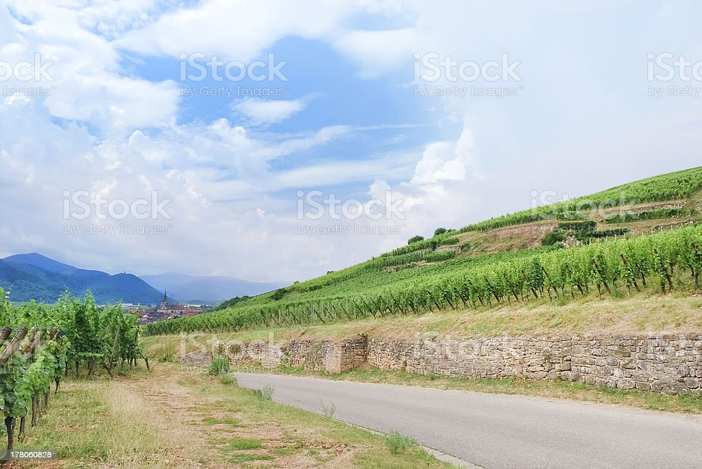 Alsace Wine Route , France royalty-free stock photo