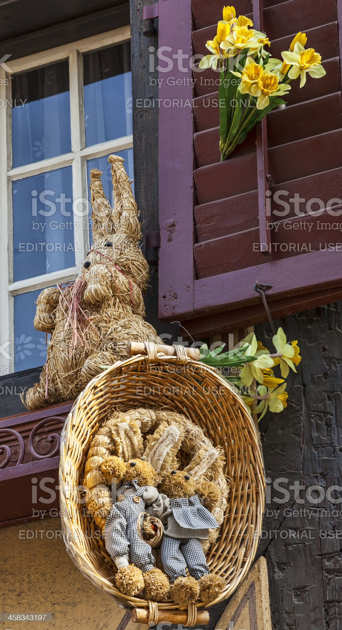 Alsatian Easter Decoration royalty-free stock photo