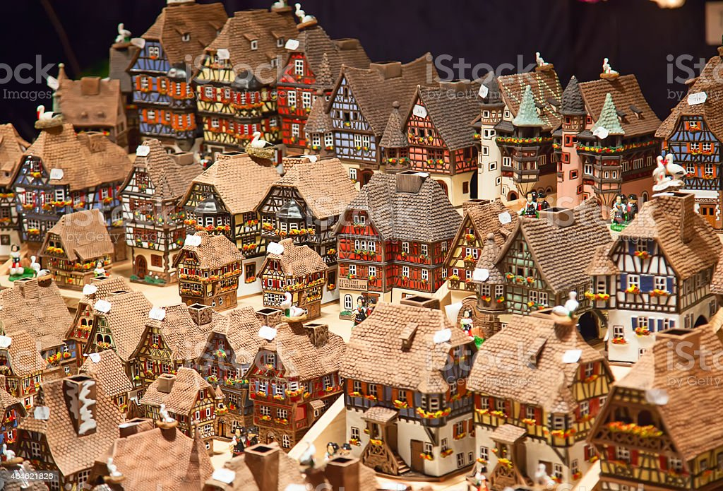 Alsatian houses stock photo