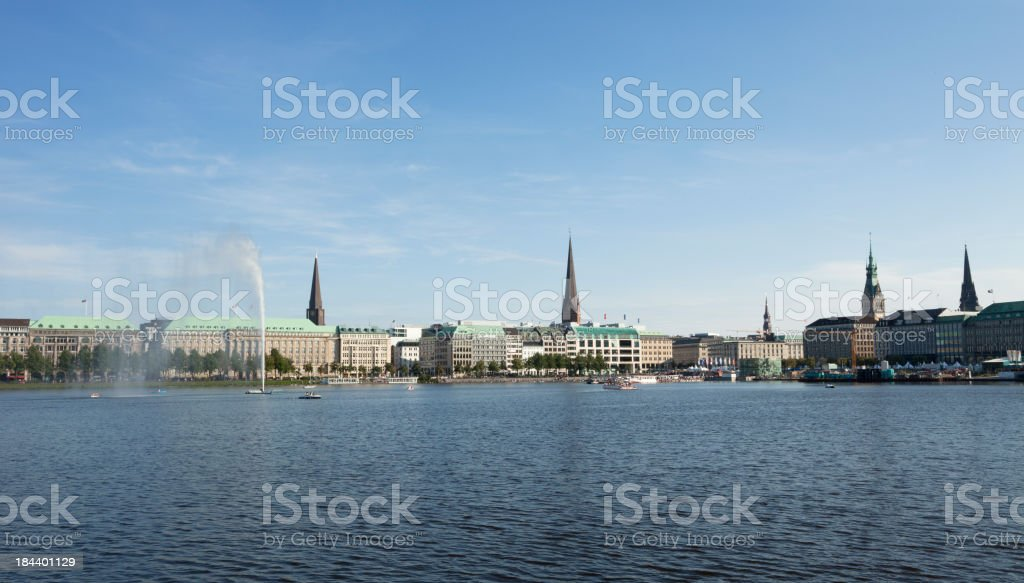 Alster lake, Hamburg royalty-free stock photo