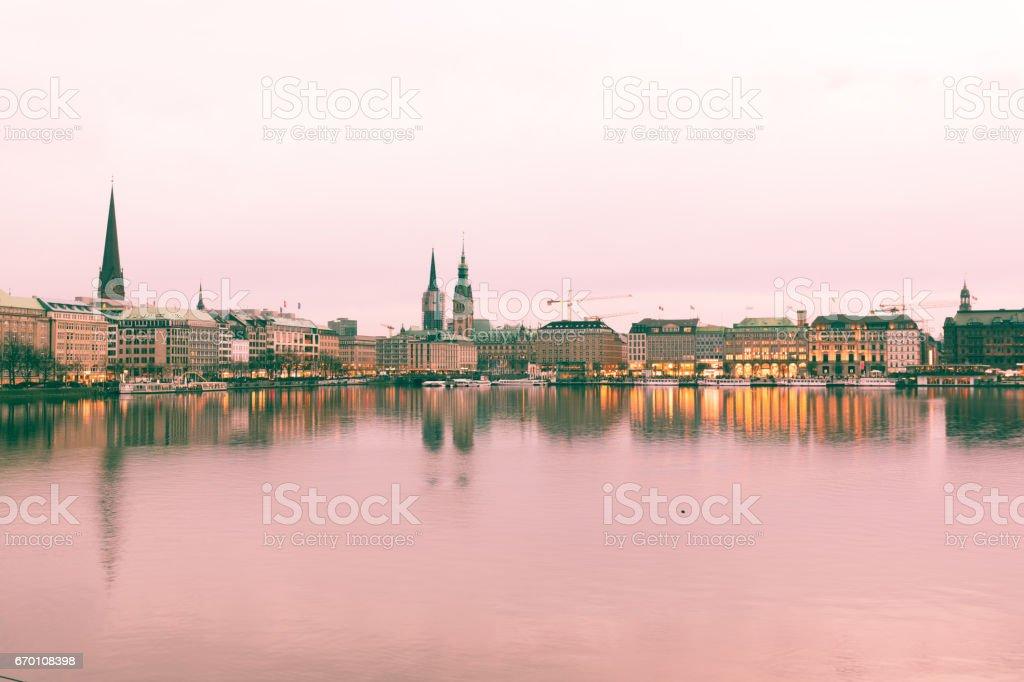 Alster lake, Hamburg stock photo