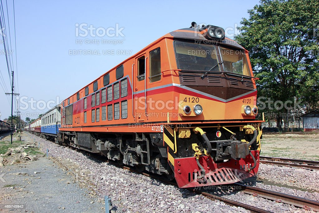Alsthom Diesel locomotive no.4120 stock photo
