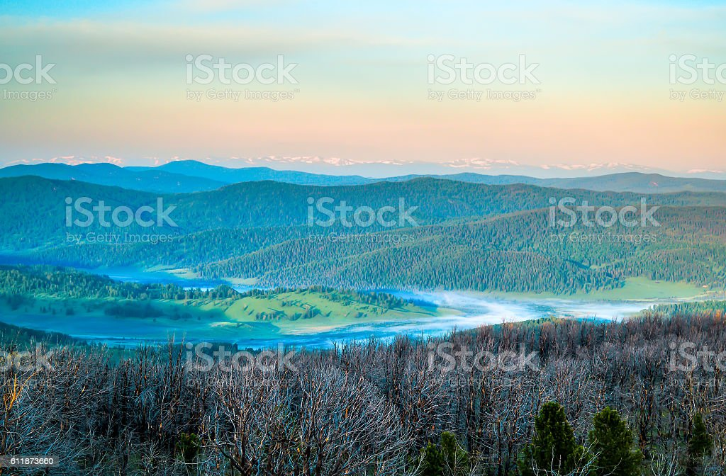 Altai mountains landscape stock photo