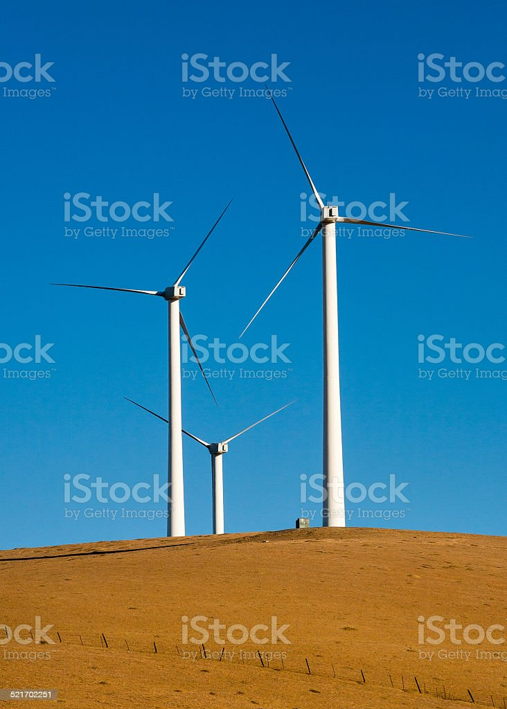 Altamont Pass Wind Turbines royalty-free stock photo