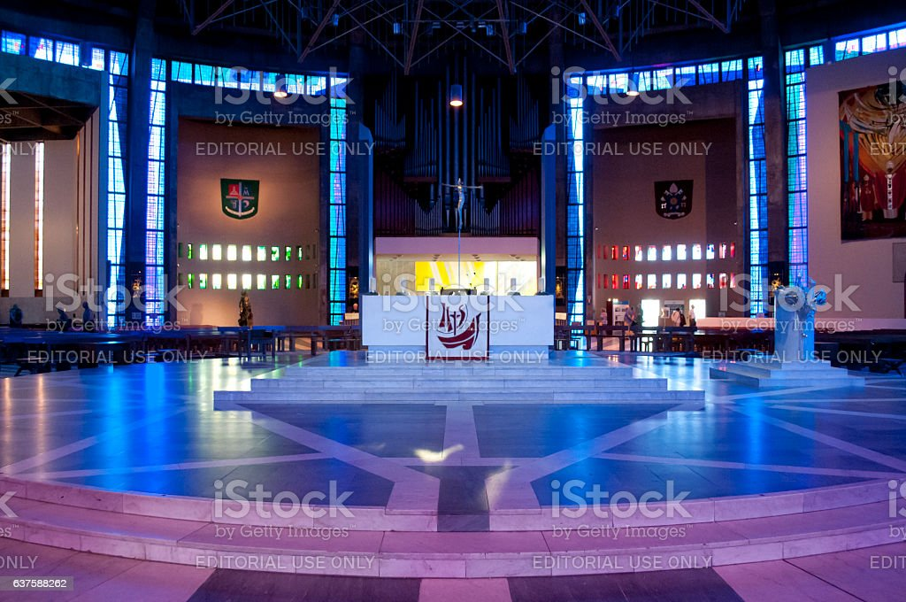 Altar at Liverpool Metropolitan Cathedral, Liverpool, UK stock photo