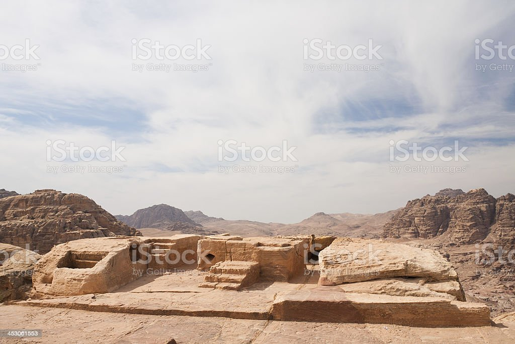 Altar at Petra in Jordan royalty-free stock photo