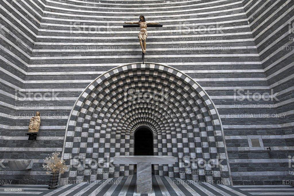 Altar, Church of Saint Giovanni Battista, Mongo, Switzerland stock photo