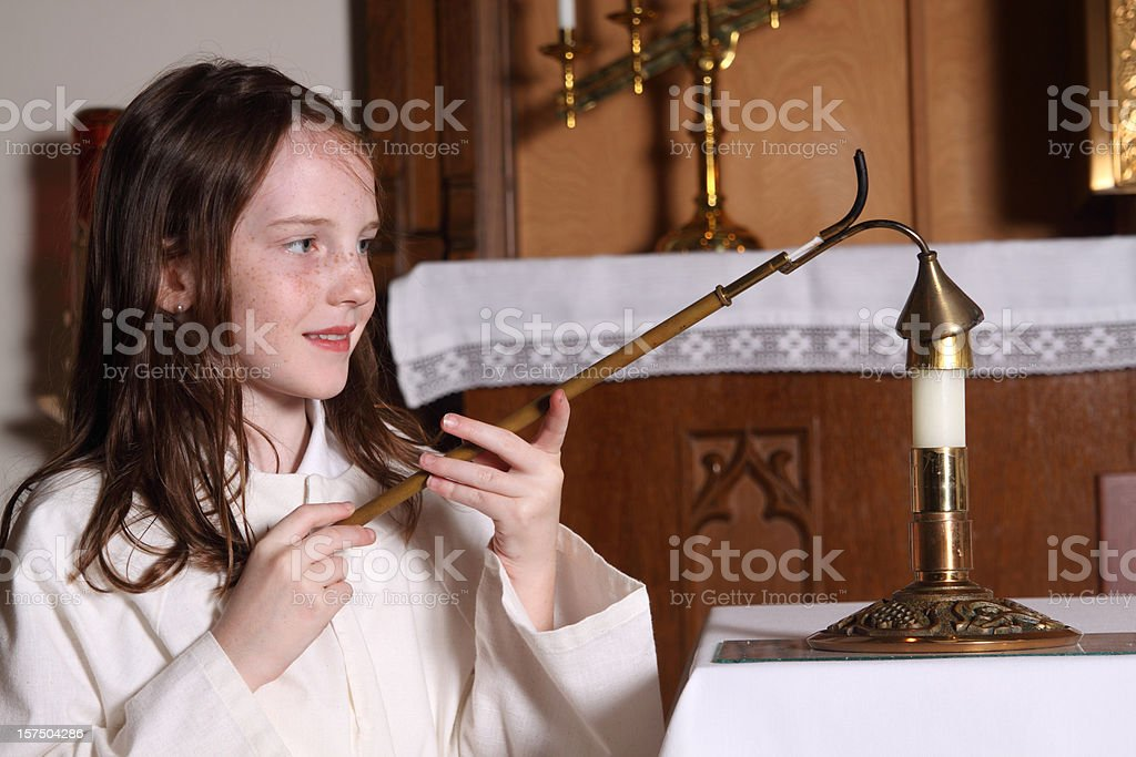 Altar Girl royalty-free stock photo