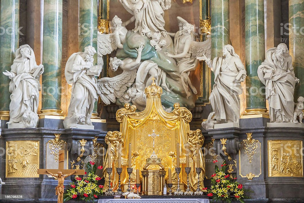 Altar in basilica - Jasna Gora Sanctuary, Czestochowa, Poland. royalty-free stock photo