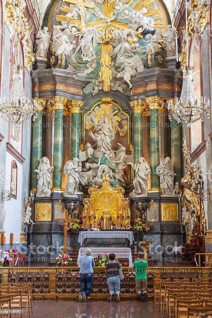 Altar in basilica - Jasna Gora Sanctuary, Czestochowa, Poland. royalty-free stock photo