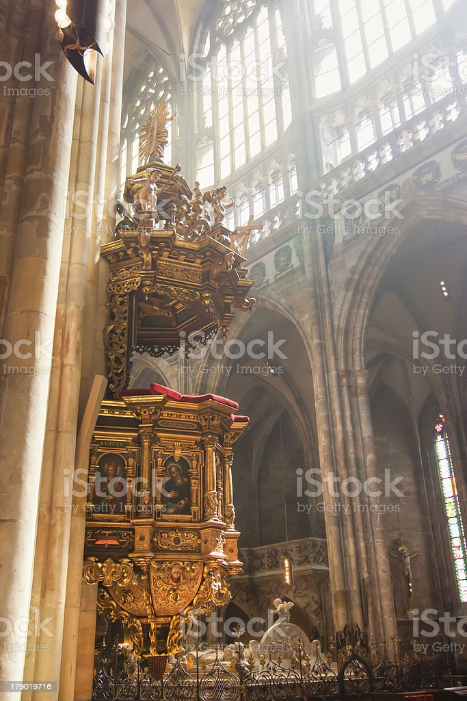 altar in cathedral royalty-free stock photo