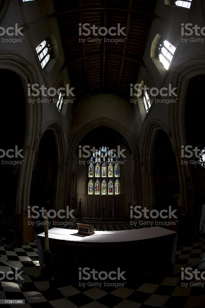 Altar in sunlight royalty-free stock photo
