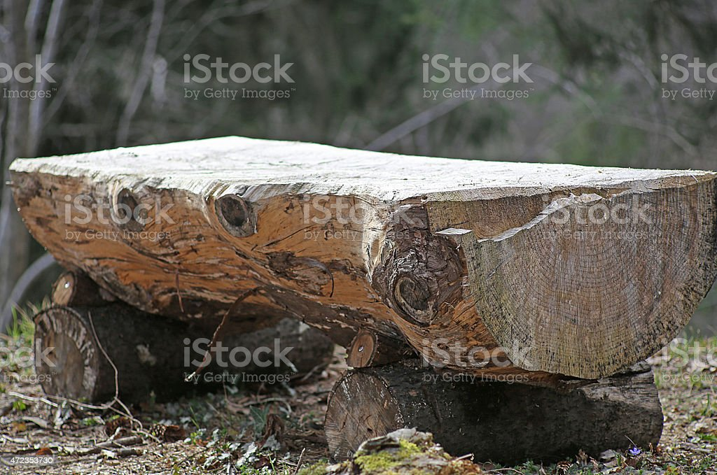 altar in the middle of the forest stock photo
