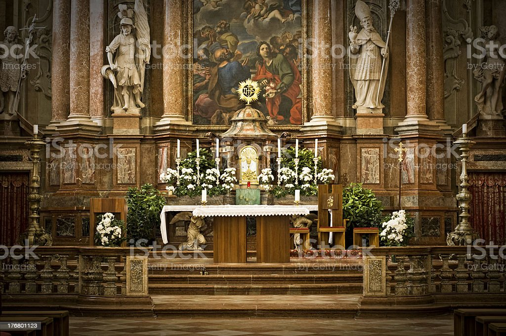 Altar of an Abbey royalty-free stock photo