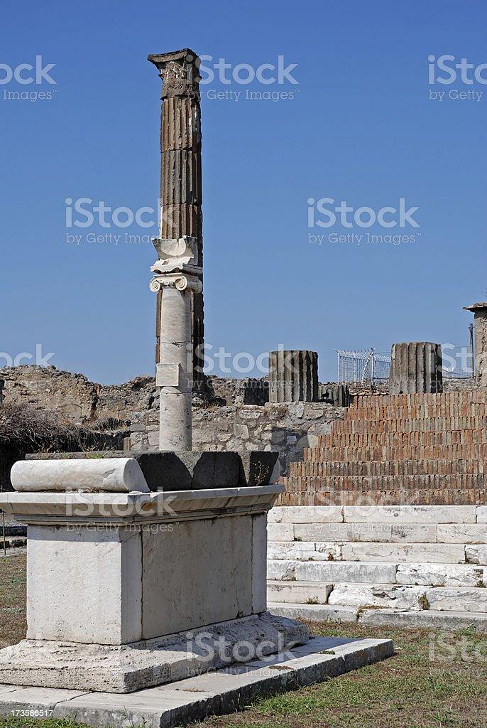 altar of Apollo temple in Pompei royalty-free stock photo