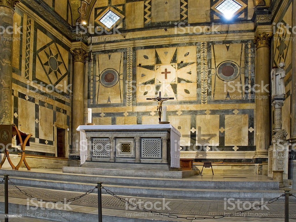 Altar of the Baptistery di San Giovanni. Florence, Italy royalty-free stock photo