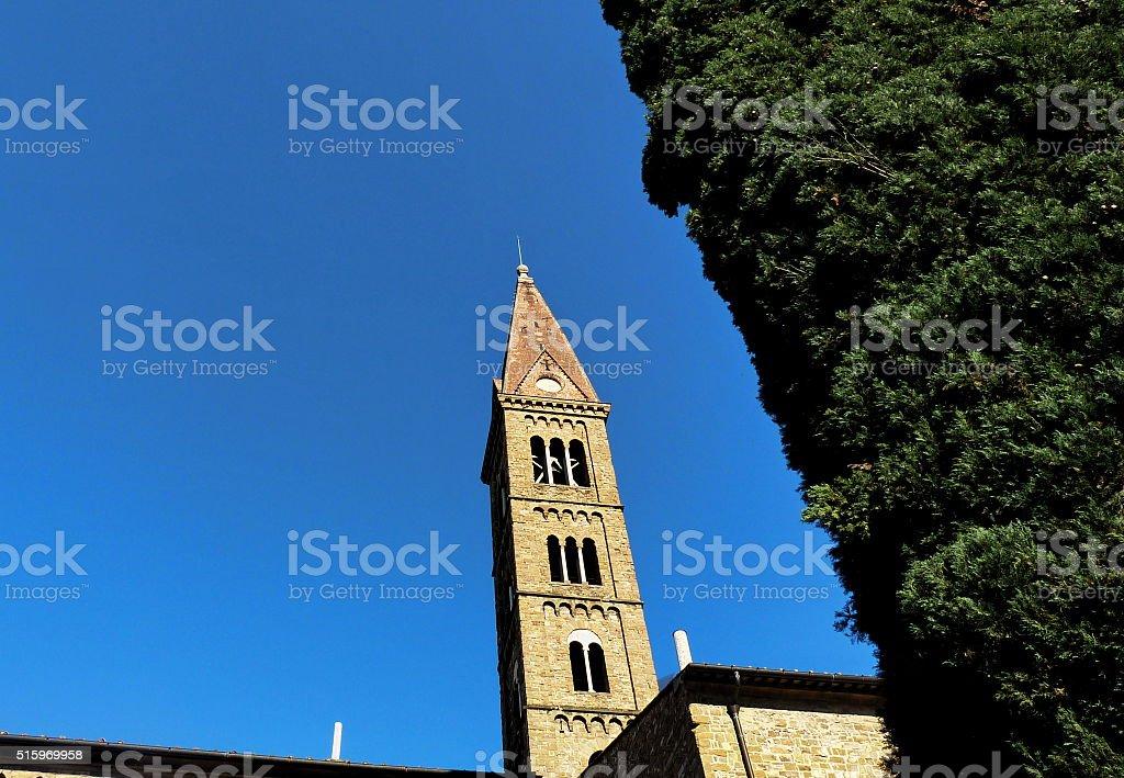 Altar of the church of Santa Maria Novella, Florence stock photo