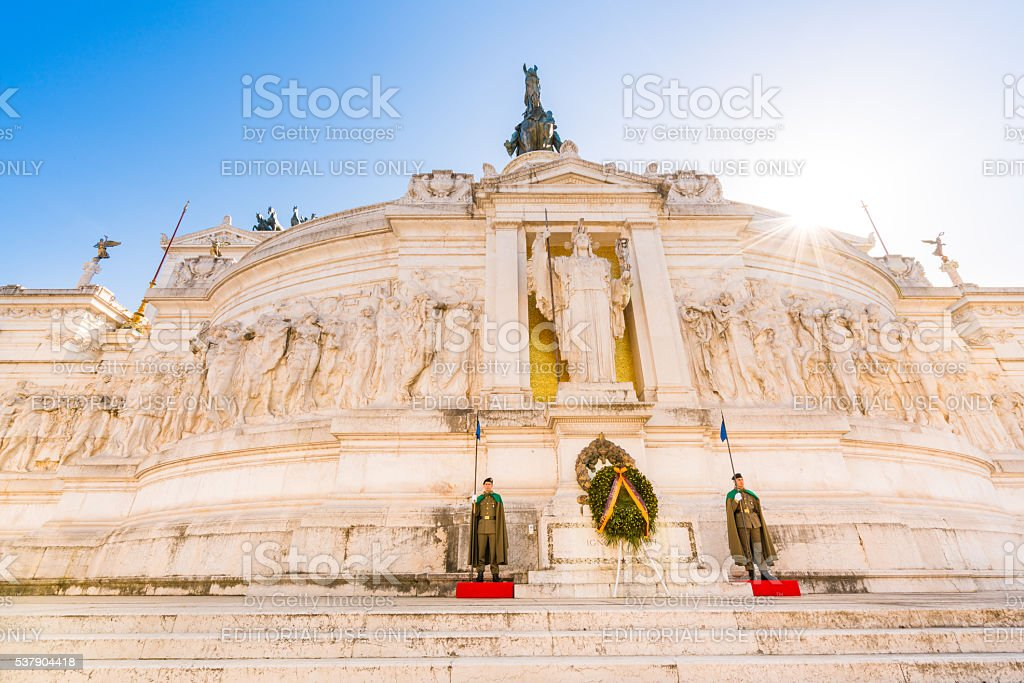 Altare della Patria in Rome, Italy stock photo