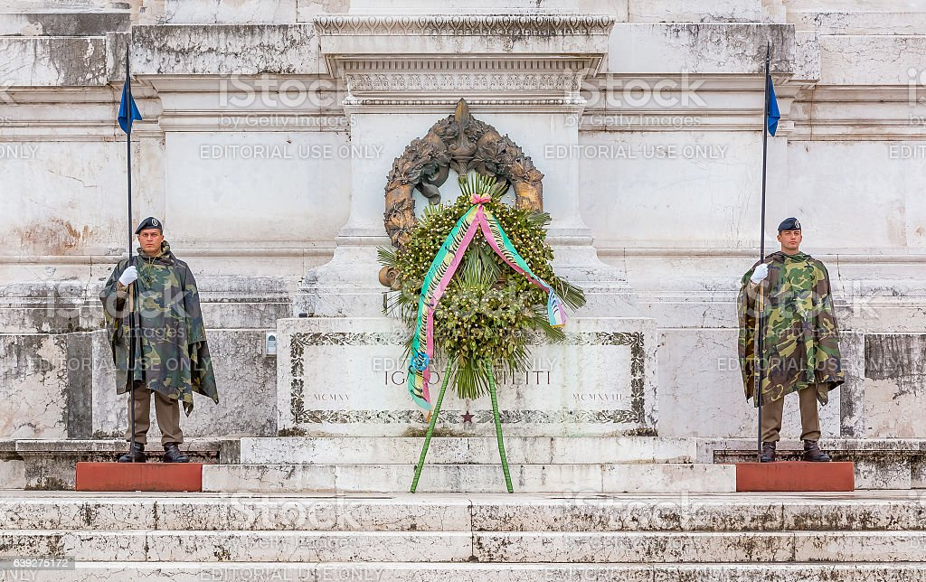 Altar of the Fatherland in Rome Italy stock photo