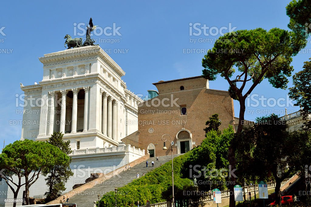 Altar of the Fatherland in Rome stock photo