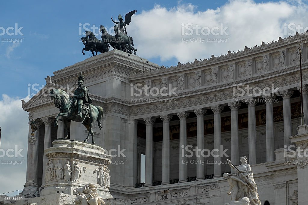 Altar of the Fatherland, Rome, Italy stock photo