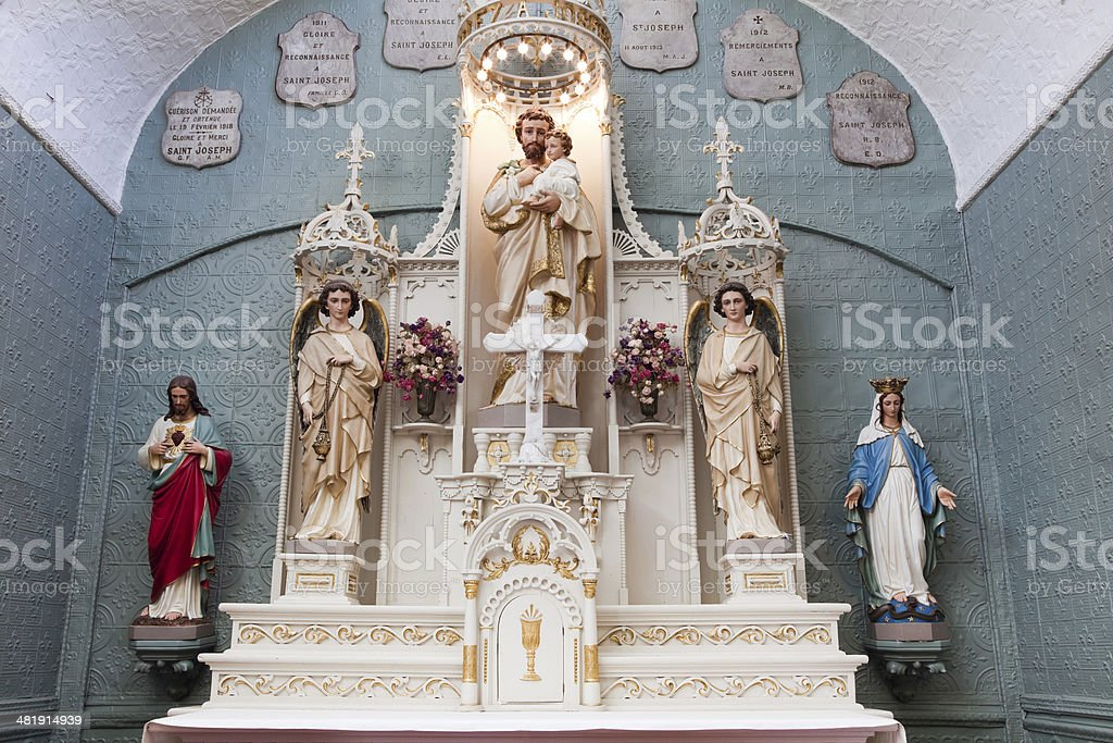 Altar Saint Brother Andres Chapel, Montreal royalty-free stock photo