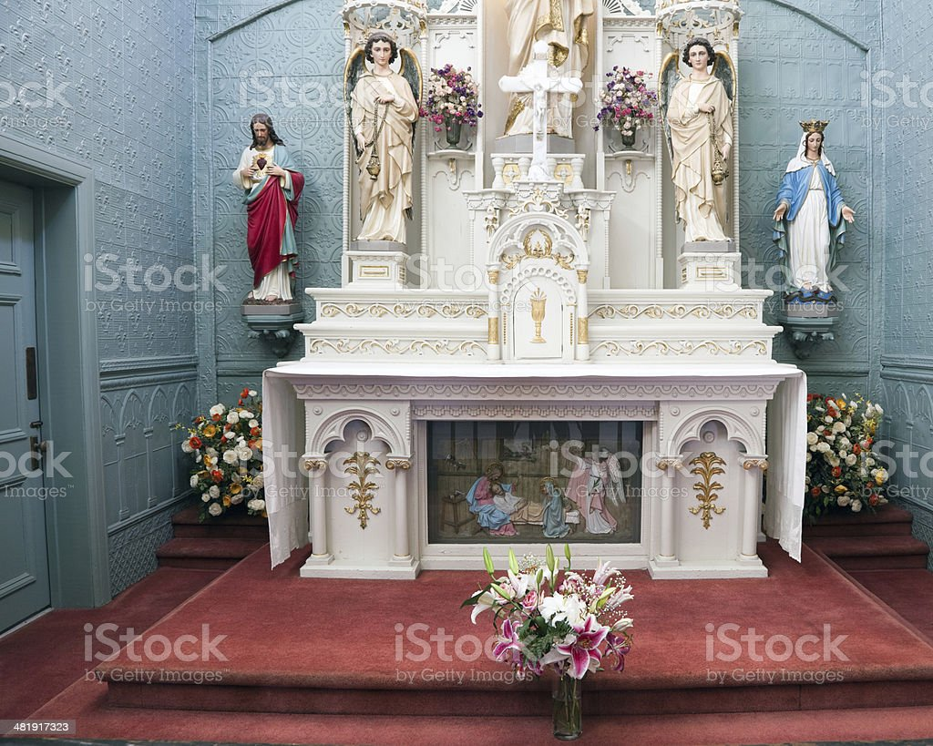 Altar Saint Brother Andres Chapel Montreal royalty-free stock photo