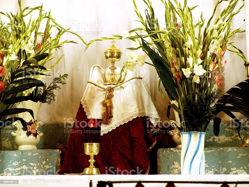 Altar Santa Ana Guanajuato royalty-free stock photo