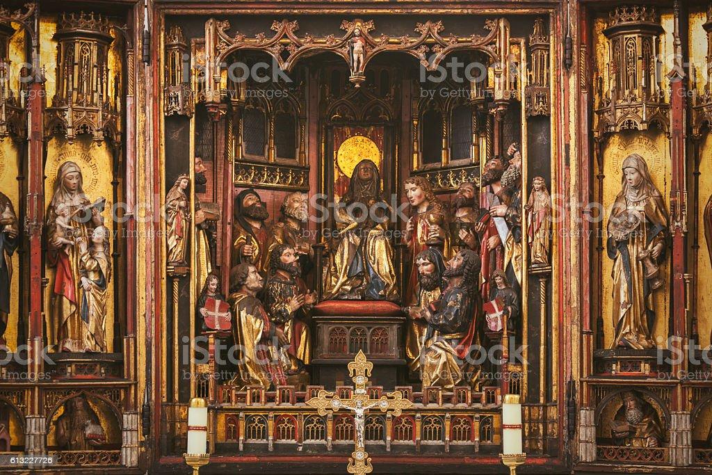 Altar triptych stock photo