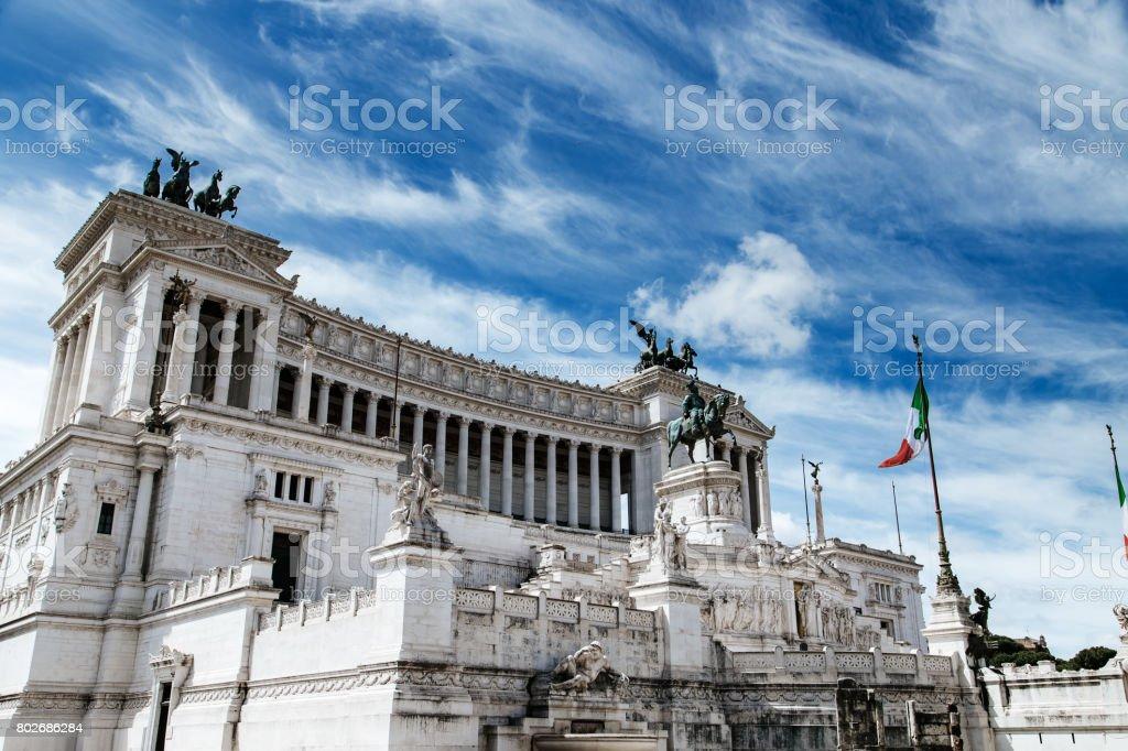 Altare della Patria in Piazza Venezia. Rome, Italy stock photo
