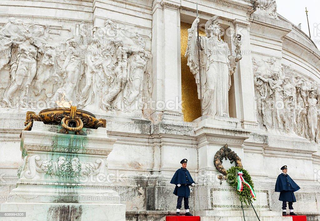 Altare della Patria in Rome stock photo