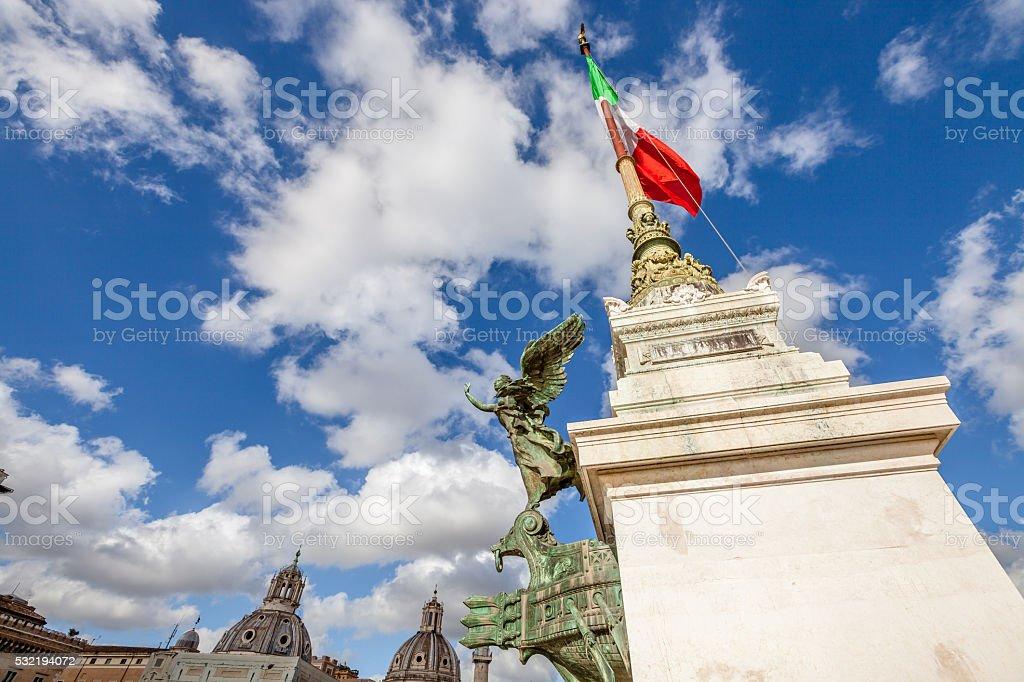Altare della Patria Roma stock photo
